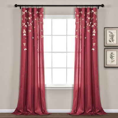 Flower Drops Light Filtering Window Curtain Panel - Lush Décor