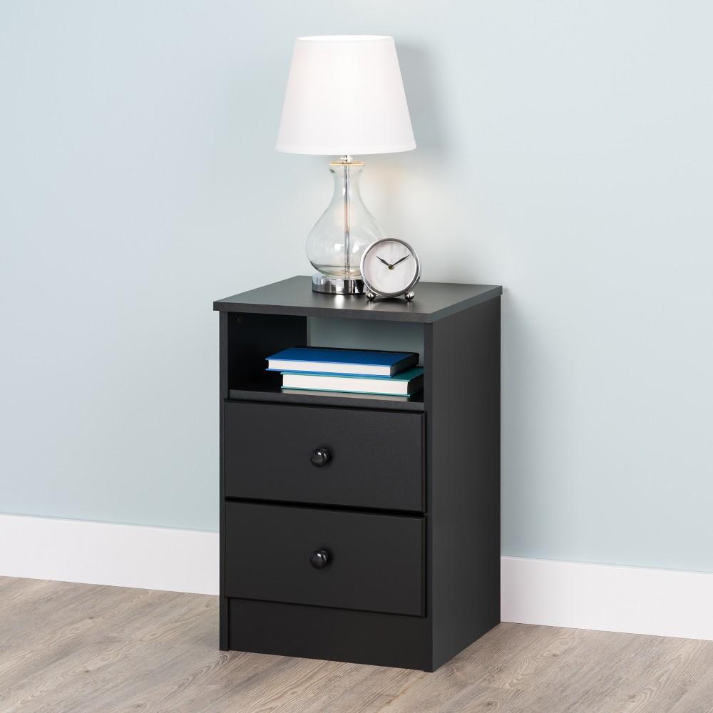 Astrid 2 Drawer Nightstand Black - Prepac Cheap