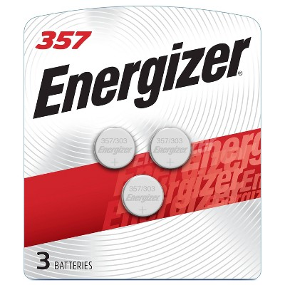 Energizer 3pk 357/303 Batteries Silver Oxide Button Battery