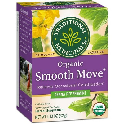 Traditional Medicinals Smooth Move Peppermint Tea Bags - 16ct