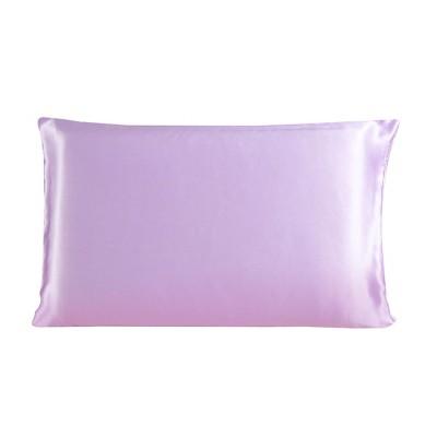 1 Pc Queen 100% Mulberry Silk Pillowcase Light Purple - PiccoCasa