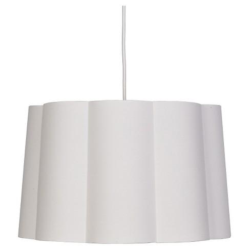 Scalloped Ceiling Light White - Pillowfort™ - image 1 of 1