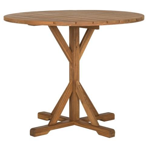 Arcata Round Table Teak Safavieh