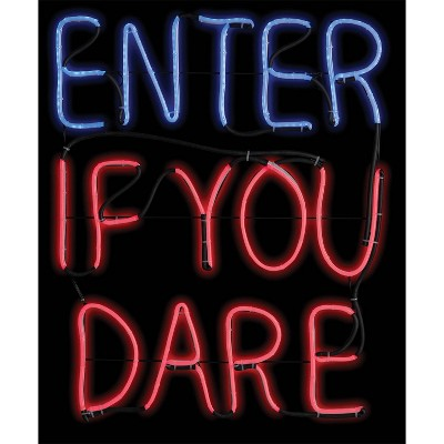 """20 """"Halloween Enter If You Dare Glow Light Sign"""