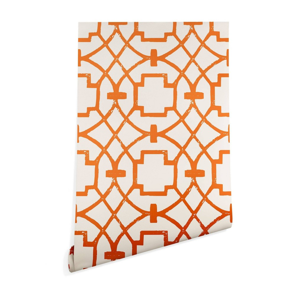 "Image of ""2"""" x 10"""" Caroline Okun Umbria Wallpaper Burnt Orange - Denny Designs, Size: 2"""" x 10"""""""