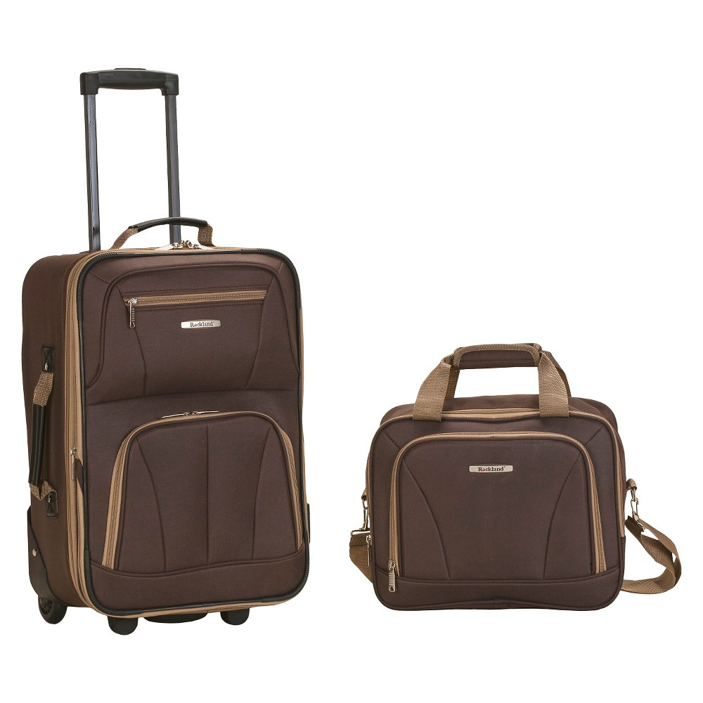 Rockland Fashion 2pc Luggage Set - Brown