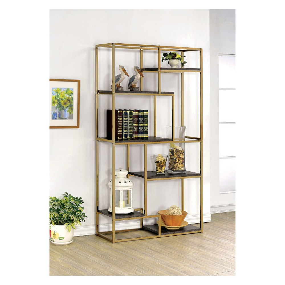 70.25 Beverly 6 Shelf Etagere Champagne (Beige) - Homes: Inside + Out