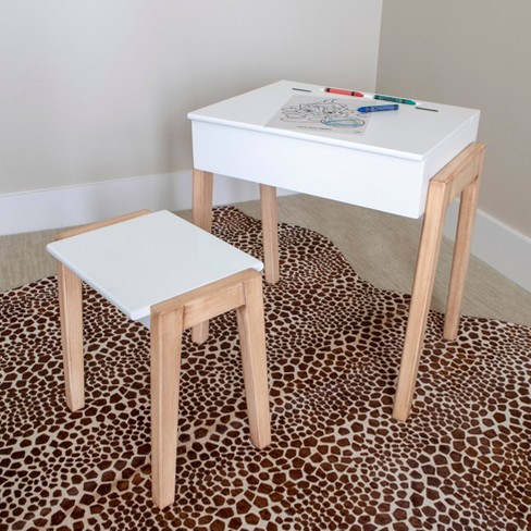 Set of 2 Daisy Stool and Desk White - Dcor Therapy - image 1 of 4