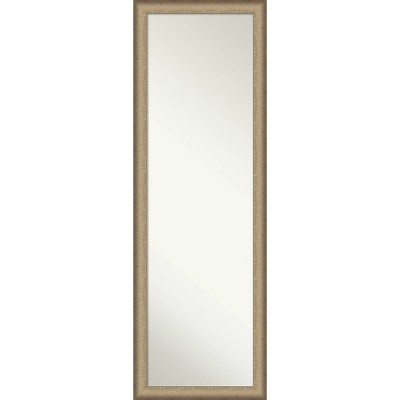 "17"" x 51"" Elegant Brushed Framed On the Door Mirror Bronze - Amanti Art"