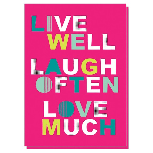 """Live Well Laugh Often Love Much"" Notecards - 10 ct - image 1 of 1"