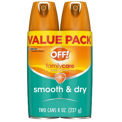OFF! FamilyCare Mosquito Repellent I Smooth & Dry 2ct - 4oz