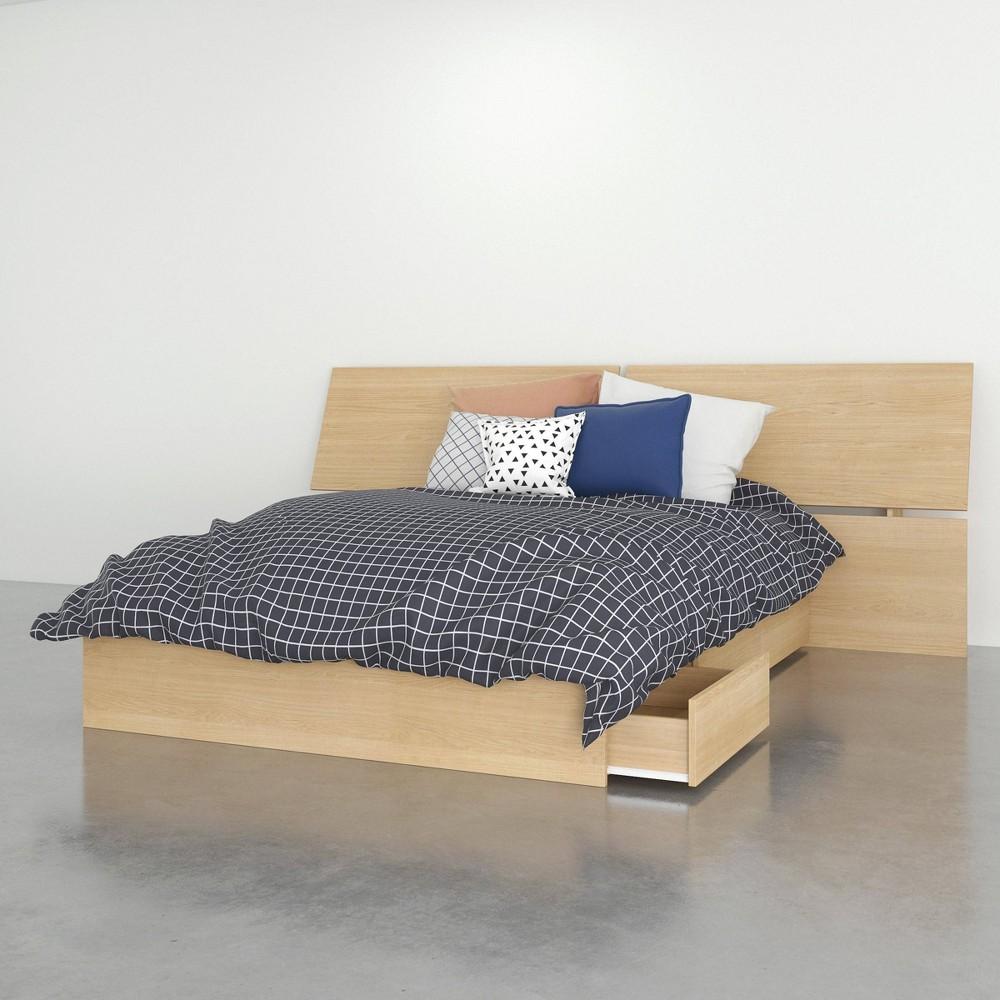 Image of 2pc Full Parody Bedroom Set Natural Maple - Nexera, Brown