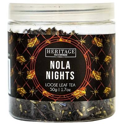 Heritage Tea Nola Nights Black Loose Leaf Tea - 1.7oz