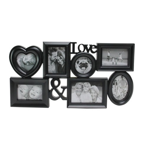 "Northlight 26.5"" Black Multi-Sized ""Love &"" Collage Photo Picture Frame Wall Decoration - image 1 of 2"