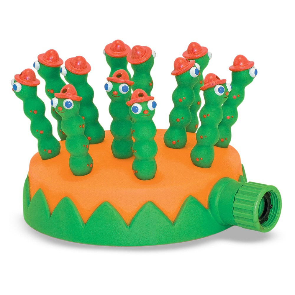 Melissa & Doug Sunny Patch Grub Scouts Sprinkler Toy With Hose Attachment, Multi-Colored