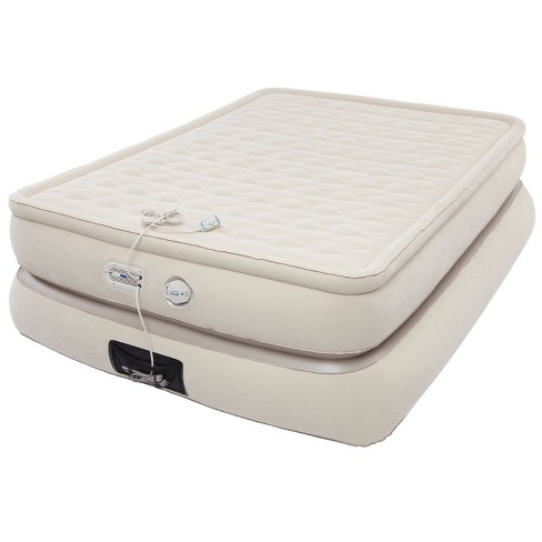 Aerobed Pillowtop Double-High Air Mattress with Built-In Pump & USB Port Queen - Khaki - image 1 of 2