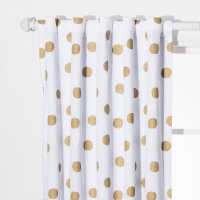 Dot Blackout Curtain Panels Gold (42 x84 )- Pillowfort™
