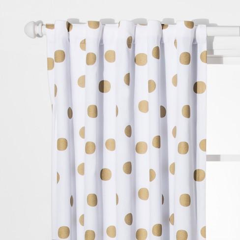 Dot Blackout Curtain Panels Gold 42 Quot X63 Quot Pillowfort