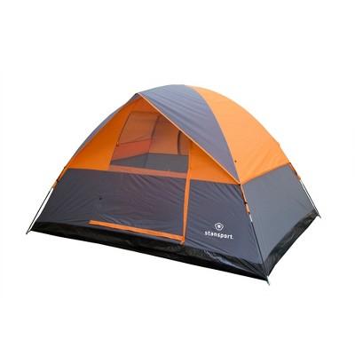 Stansport Everest 6 Person Dome Tent Orange/Gray