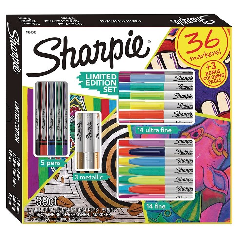 sharpie set fine tip permanent markers 36ct multicolor