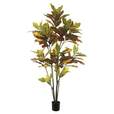 Artificial Potted Cronton Tree (5ft) Green/Orange - Vickerman® - image 1 of 1