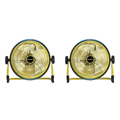 Geek Aire CF3 Outdoor Cordless Rechargeable 10 Inch Variable Speed Floor Fan (2 Pack)