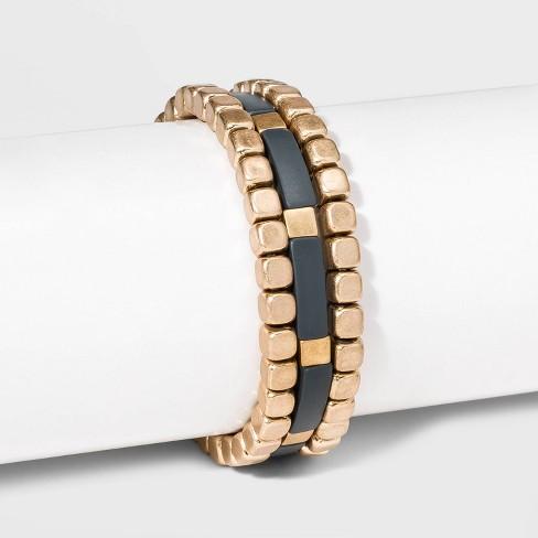 Matte Spray Cube Stretch Bracelet Set - Universal Thread™ - image 1 of 1