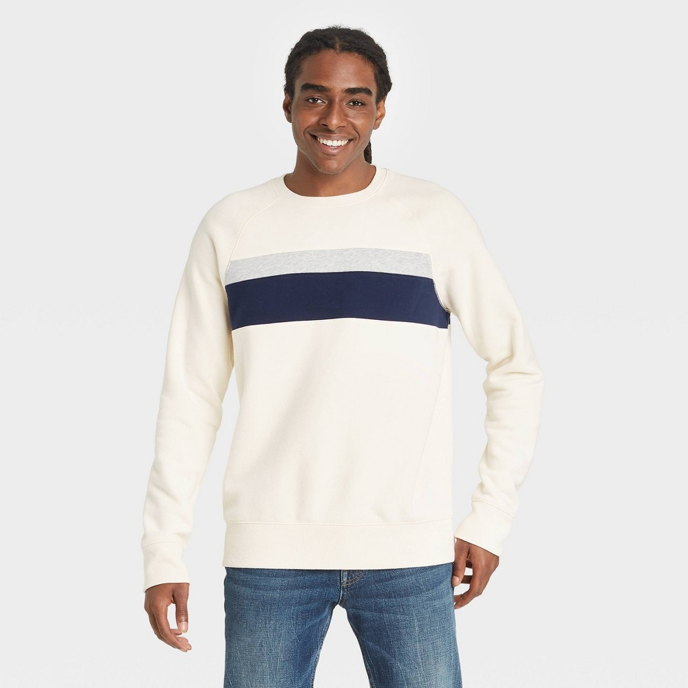 Men 39 S Fleece Crewneck Sweatshirt Goodfellow 38 Co 8482 White Xl