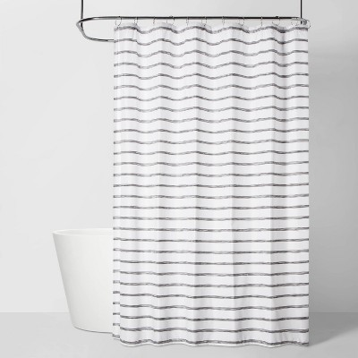 Stripe Shower Curtain Gray - Room Essentials™