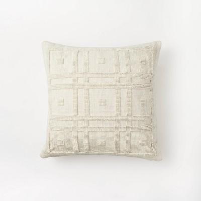 Geo Tufted Square Pillow Cream - Threshold™ designed with Studio McGee