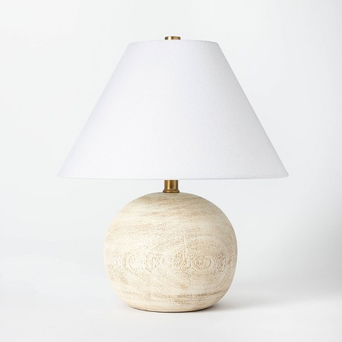 Medium Faux Wood Table Lamp Brown - Threshold™ designed with Studio McGee - image 1 of 4