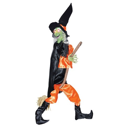 Halloween Leg Kicking Witch with Broom - image 1 of 1