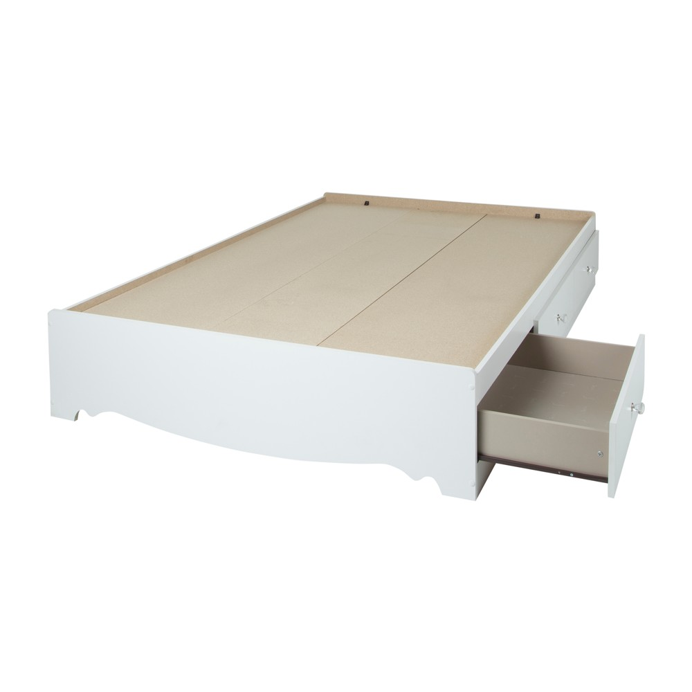 Crystal Mates Bed With 3 Drawers Full Pure White - South Shore