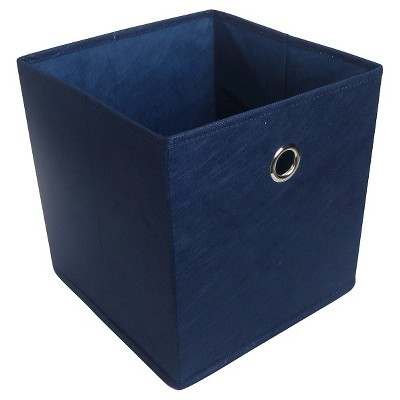 Fabric Cube Storage Bin Blue 11  - Room Essentials™