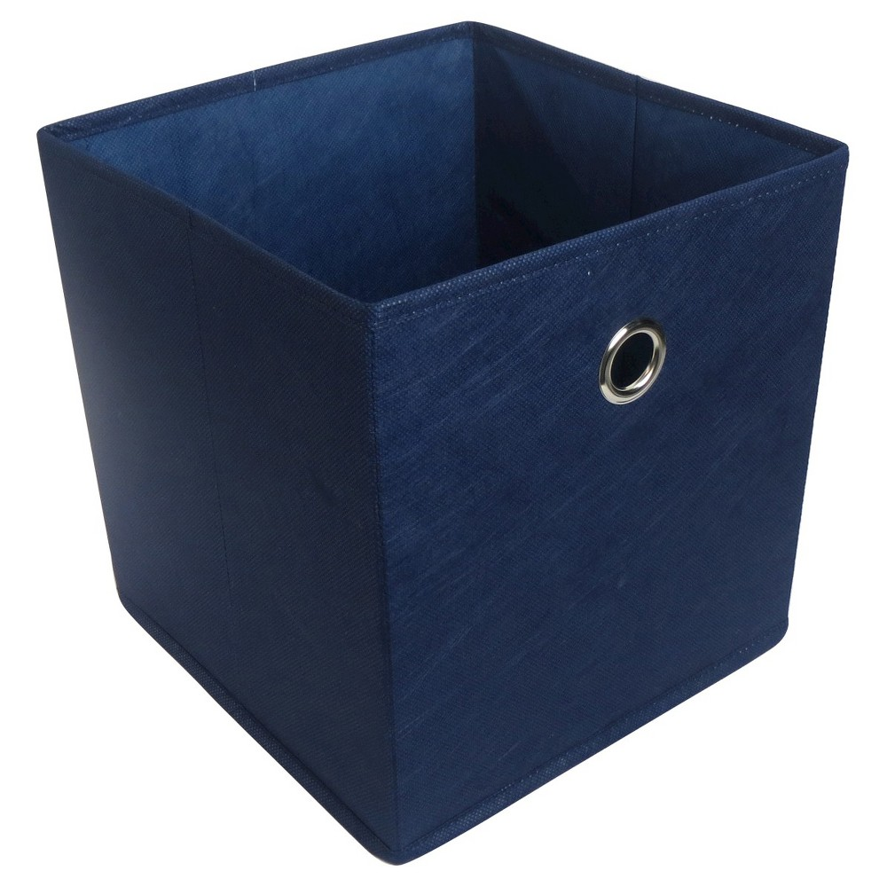 "Image of ""Fabric Cube Storage Bin Blue 11"""" - Room Essentials"""