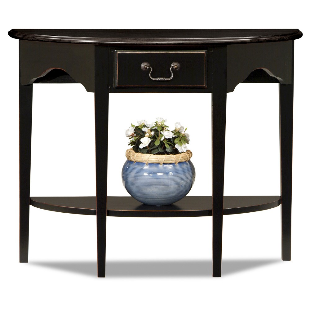 Favorite Finds Demilune Console Slate (Grey) Finish - Leick Home