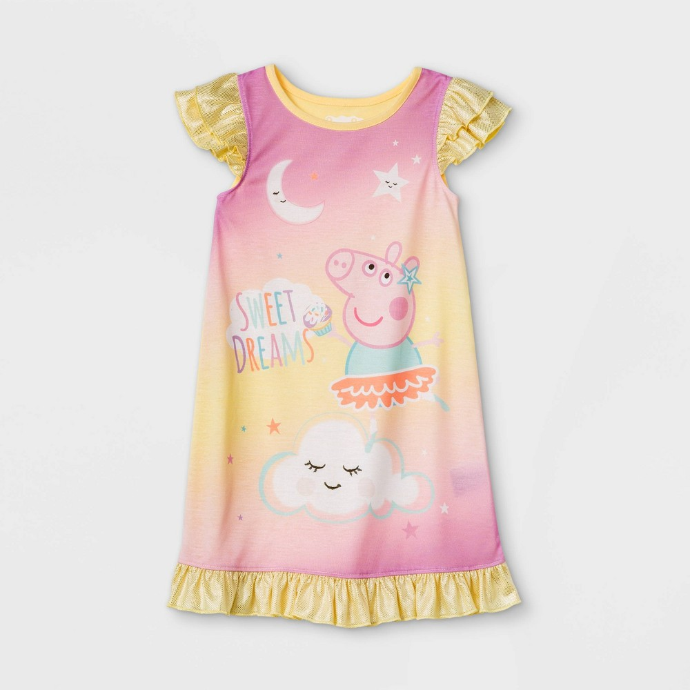 Toddler Girls 39 Peppa Pig Sweet Dreams Nightgown Yellow 4t