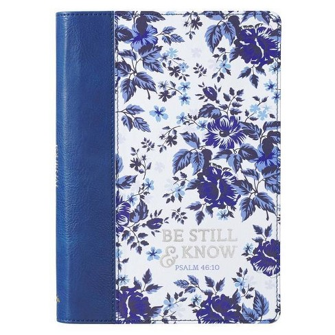 Journal Classic Blue Floral Be Still & Know - (Paperback) - image 1 of 1