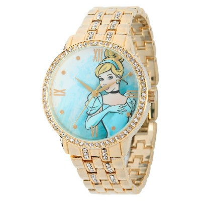 Women's Disney Princess Cinderella Watch with Alloy Case - Gold
