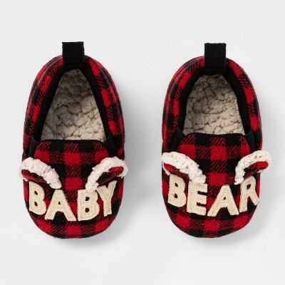 Toddlers' Family Sleep Baby Bear Slide Slippers - Wondershop™ Red 3-6M