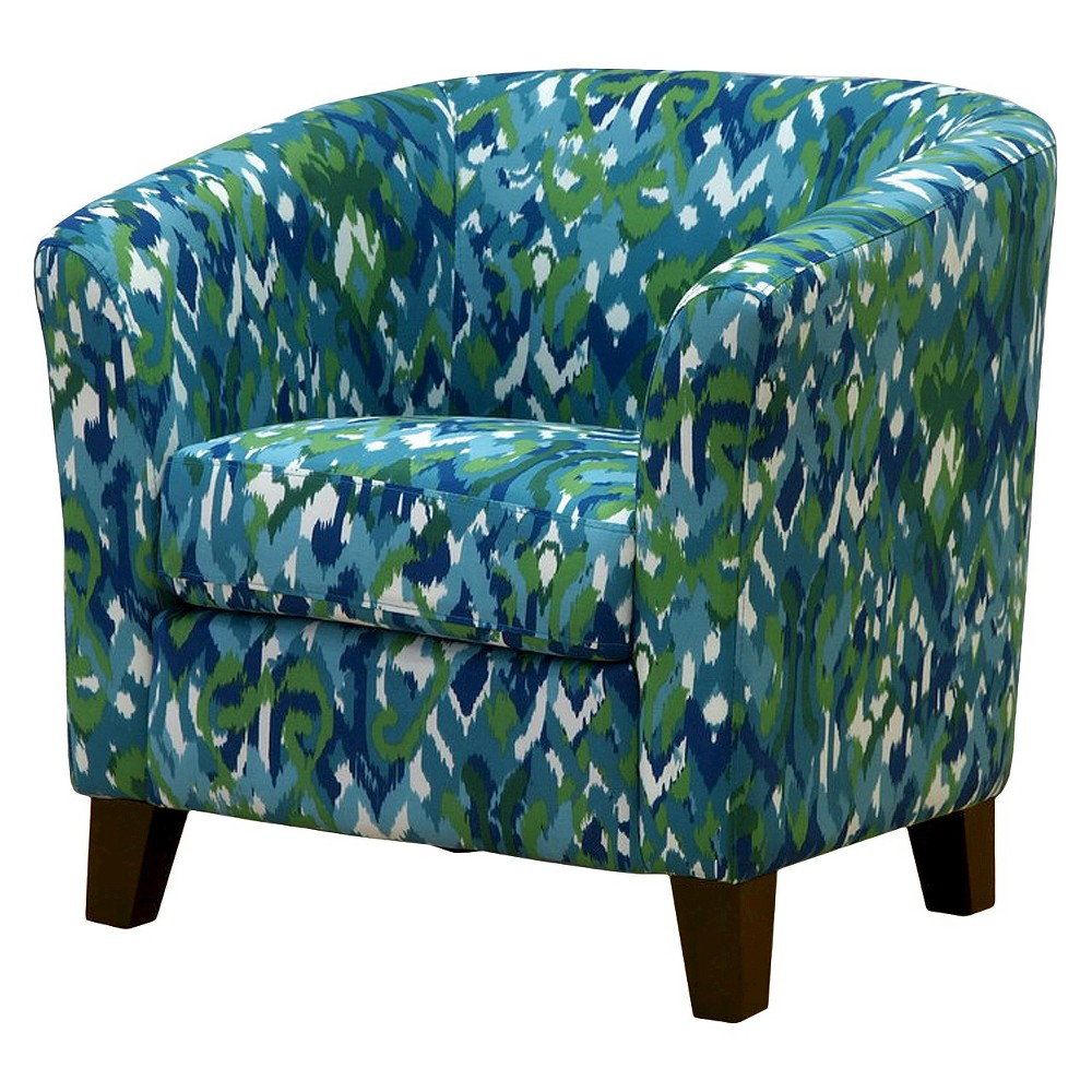 Skyline Portland Tub Chair - Skyline Furniture, Ikat Mix Blue/Green