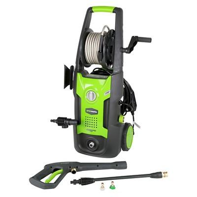 GreenWorks 24.02 H Vertical Pressure Washer Includes Hose Reel - Green