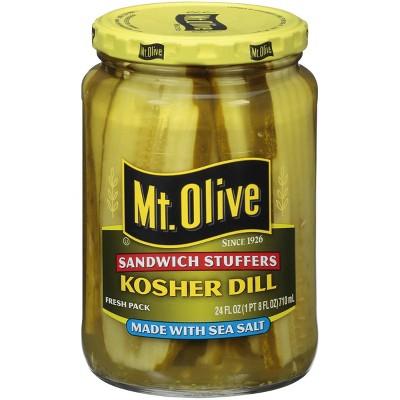 Mt. Olive Kosher Dill Made with Sea Salt - 24oz