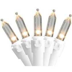 Northlight 100ct LED Mini Christmas Lights Warm White - 33' White Wire