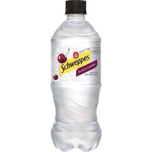 Schweppes Black Cherry Sparkling Water Beverage - 20 fl oz Bottle - image 1 of 3