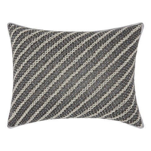 Shades Of Gray Stripe Throw Pillow - Mina Victory - image 1 of 2