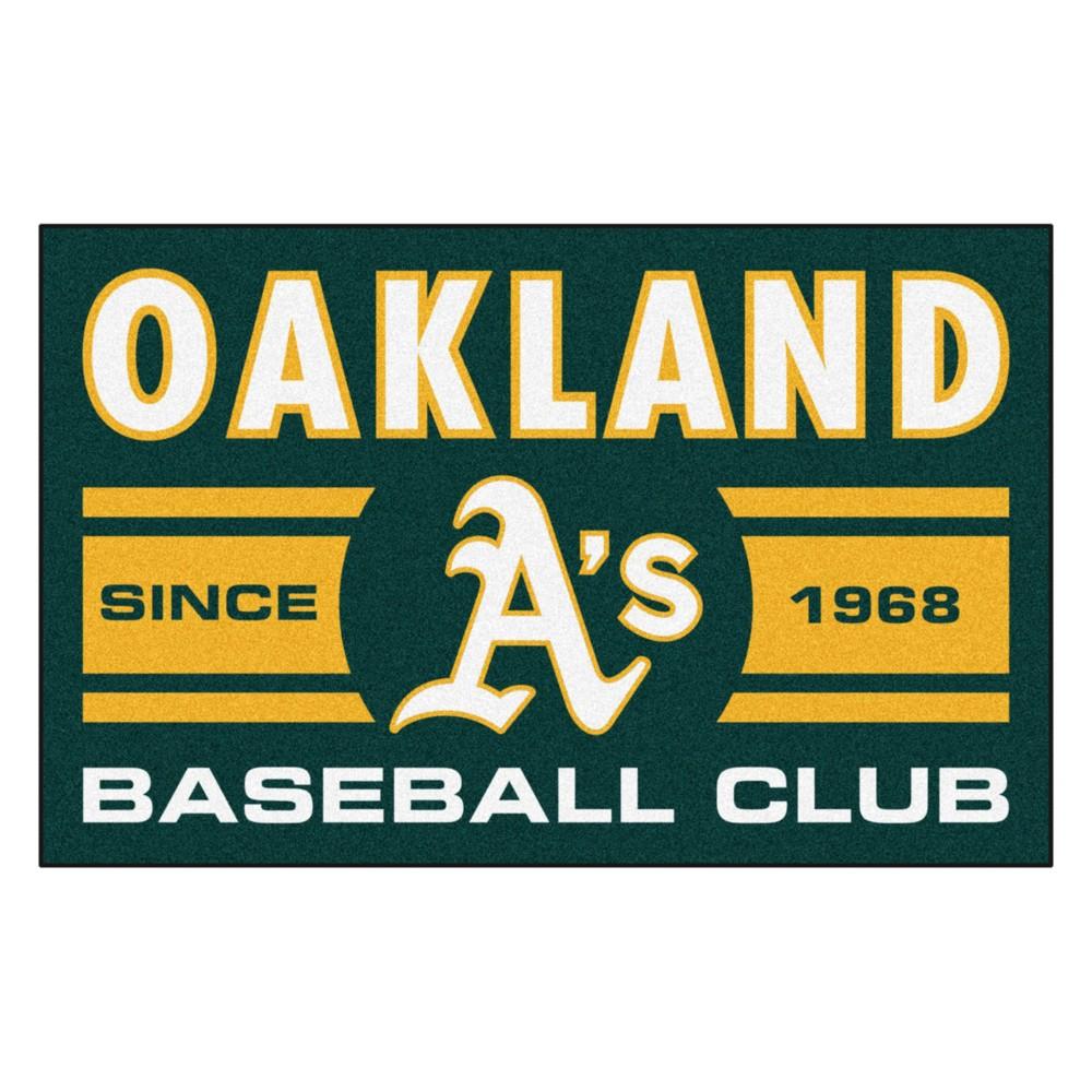 MLB Oakland Athletics Baseball Club Starter Rug 19