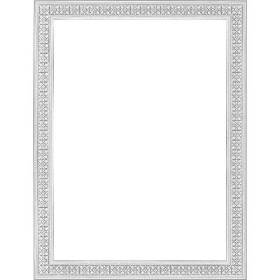 "Geographics Blank Certificates 11""x8-1/2"" 12/PK Silver Flourish 45639"