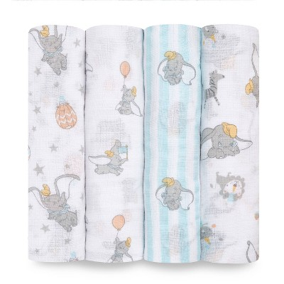 Aden + Anais Essentials Muslin Swaddles Dumbo New Heights - White 4pk