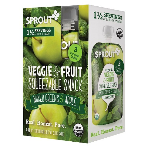Sprout Mixed Greens & Apple 3 pk - image 1 of 1